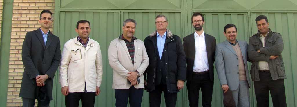 بازدید مدیران شرکت سیروکو و مجتمع فولاد مبارکه از کارخانه شرکت متالورژ