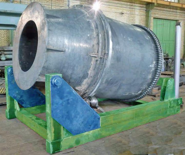 کوره دوار آلومینیوم 2500 کیلو